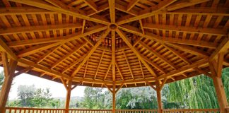 Cedar Gazebo made from timber cut on a Woodmizer sawmill