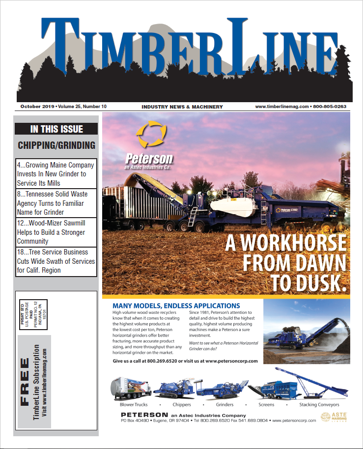 TimberLine Magazine - October 2019 Cover