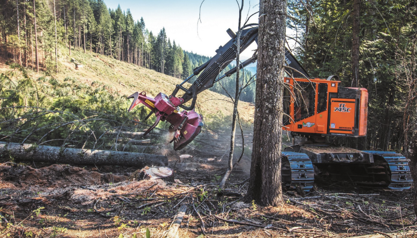 Danielson Logging from Idaho with the Timberpro TL745C Machine