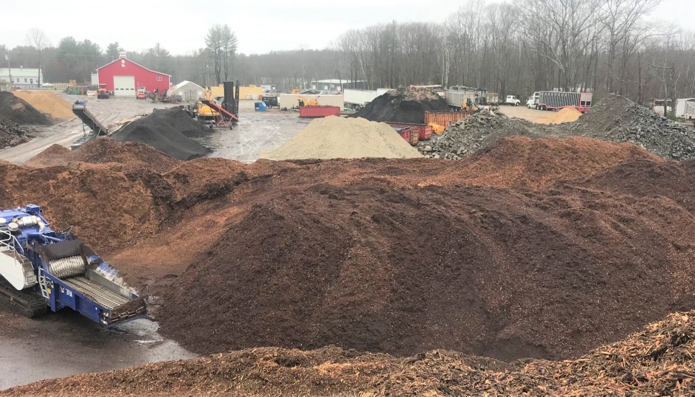 Beside grinding wood material to make mulch, compost blends, and biofuel,the company also offers decorative stone, gravel, wood chips for playgrounds,  erosion control fiber, sand, and crushed seashells.